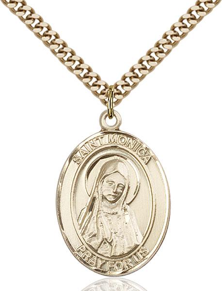Gold-Filled St. Monica Pendant