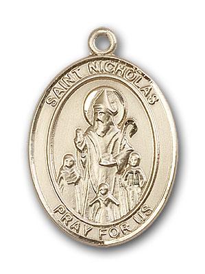 14K Gold St. Nicholas Pendant
