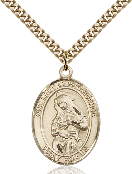 Gold-Filled Our Lady of Providence Pendant