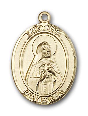 14K Gold St. Rita of Cascia Pendant