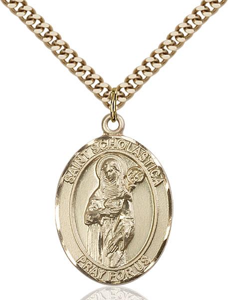 Gold-Filled St. Scholastica Pendant