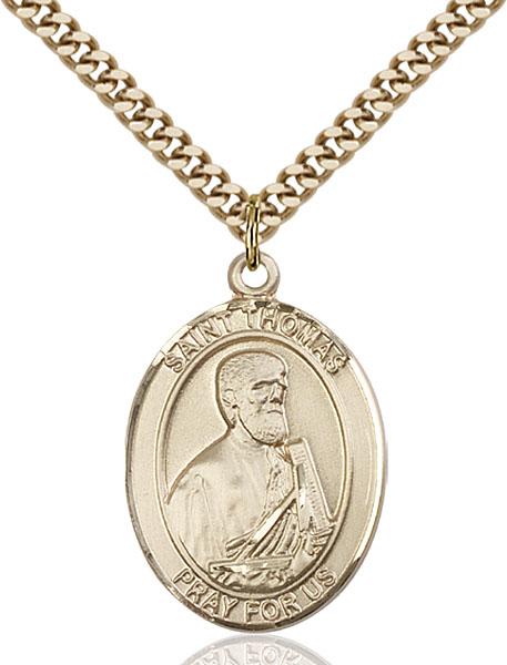 Gold-Filled St. Thomas the Apostle Pendant