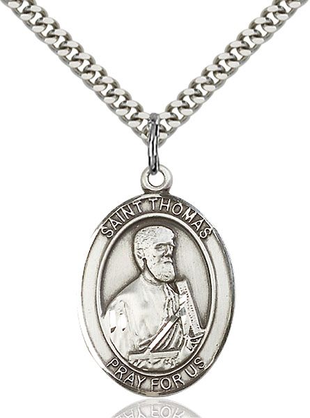 Sterling Silver St. Thomas the Apostle Pendant