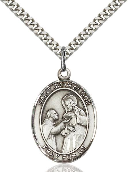 Sterling Silver St. John of God Pendant