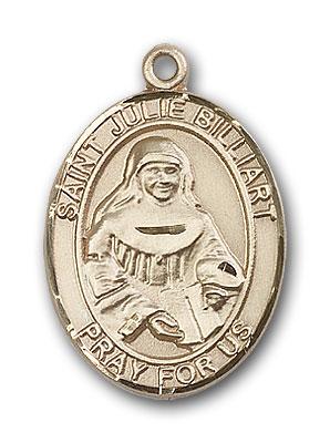 14K Gold St. Julie Billiart Pendant