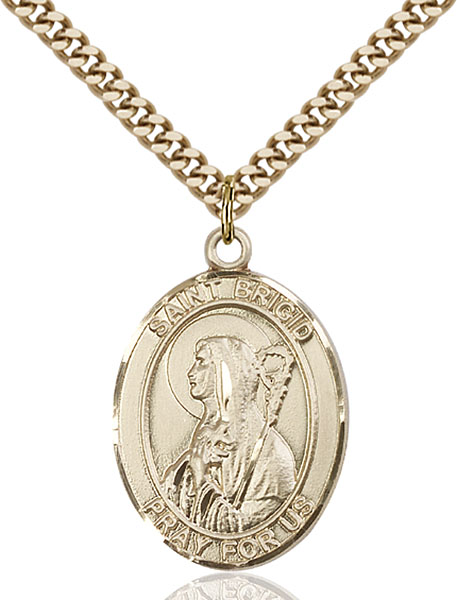 Gold-Filled St. Brigid of Ireland Pendant