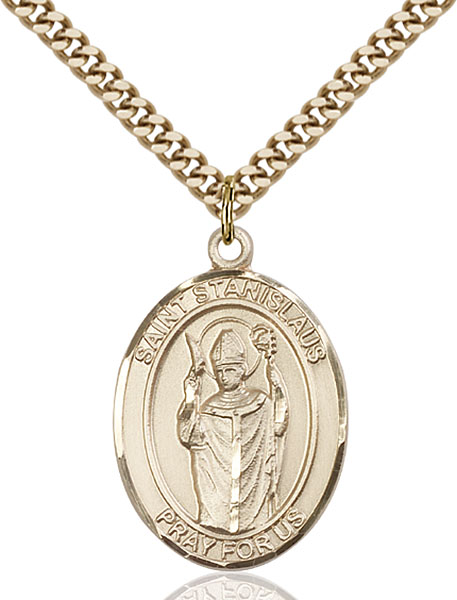 Gold-Filled St. Stanislaus Pendant