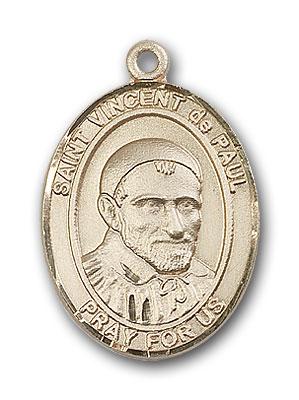 14K Gold St. Vincent de Paul Pendant