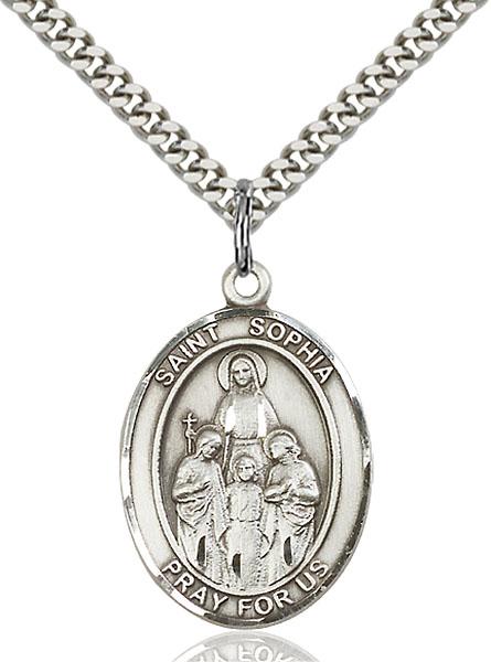 Sterling Silver St. Sophia Pendant