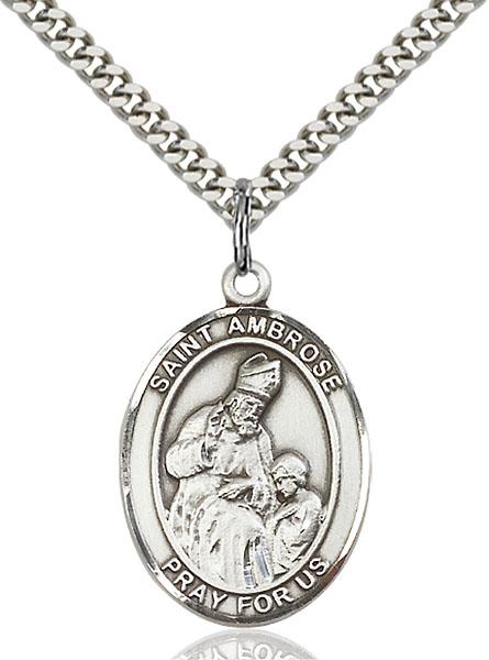 Sterling Silver St. Ambrose Pendant