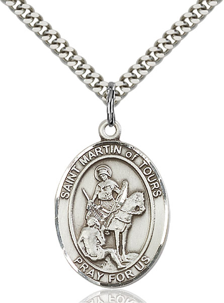 Sterling Silver St. Martin of Tours Pendant