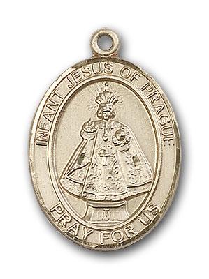 14K Gold Infant of Prague Pendant