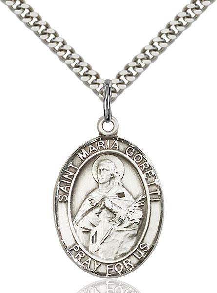 Sterling Silver St. Maria Goretti Pendant