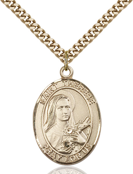 Gold-Filled St. Therese of Lisieux Pendant