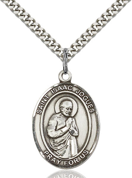 Sterling Silver St. Isaac Jogues Pendant