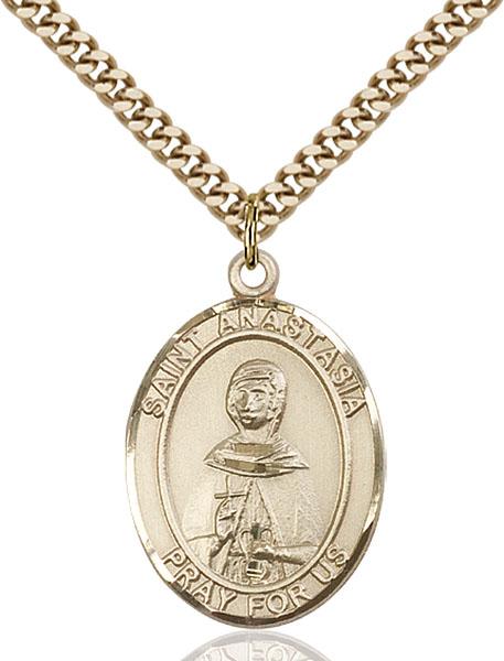 Gold-Filled St. Anastasia Pendant