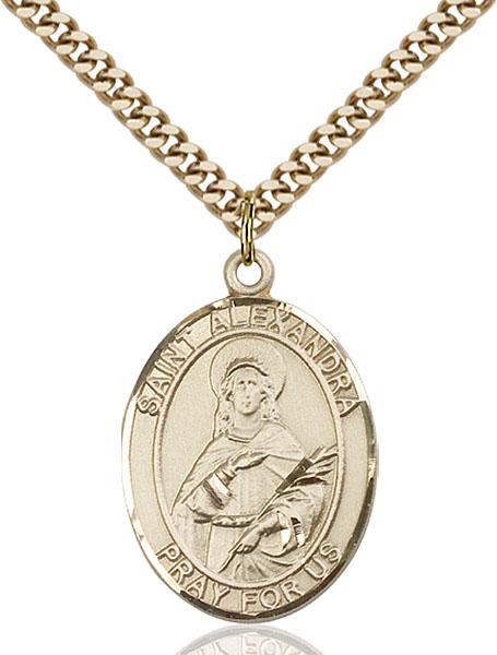 Gold-Filled St. Alexandra Pendant