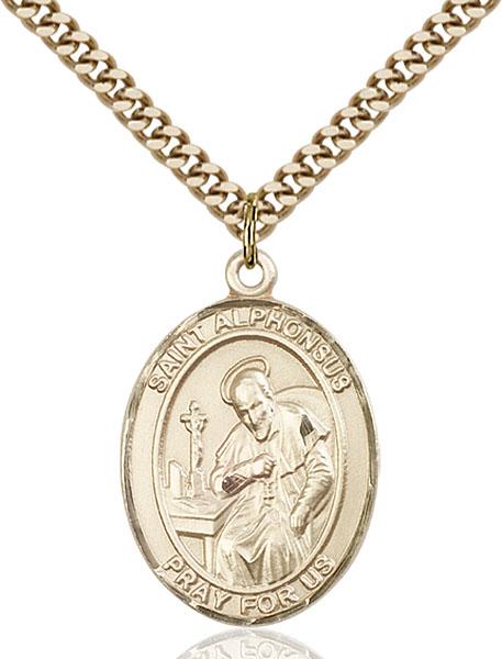 Gold-Filled St. Alphonsus Pendant