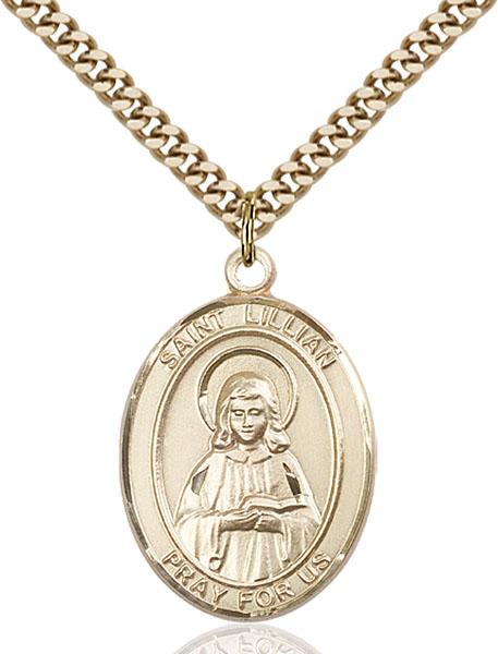 Gold-Filled St. Lillian Pendant