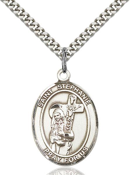 Sterling Silver St. Stephanie Pendant