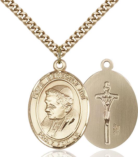 Gold-Filled Pope Benedict XVI Pendant