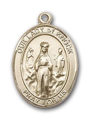 14K Gold OUR LADY of Knock Pendant