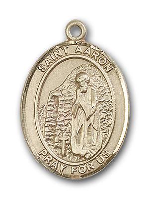 14K Gold St. Aaron Pendant