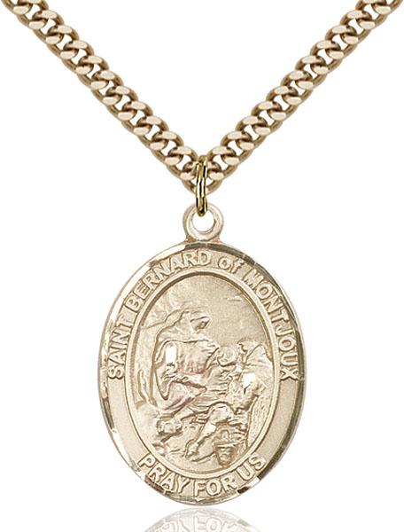 Gold-Filled St. Bernard of Montjoux Pendant