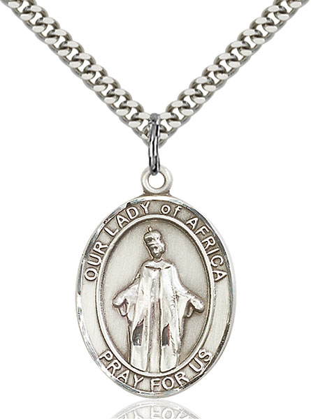 Sterling Silver Our Lady of Africa Pendant