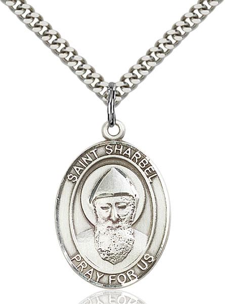 Sterling Silver St. Sharbel Pendant
