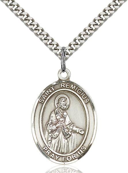 Sterling Silver St. Remigius of Reims Pendant