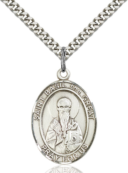 Sterling Silver St. Basil the Great Pendant