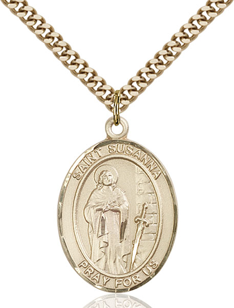 Gold-Filled St. Susanna Pendant