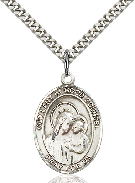 Sterling Silver Our Lady of Good Counsel Pendant