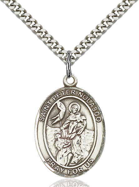 Sterling Silver St. Peter Nolasco Pendant