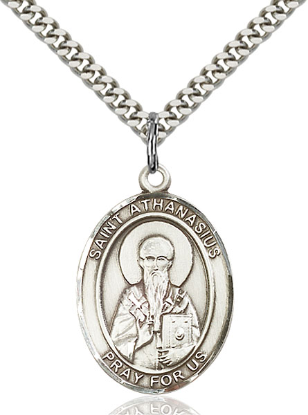 Sterling Silver St. Athanasius Pendant