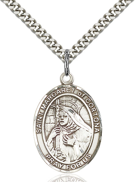 Sterling Silver St. Margaret of Cortona Pendant
