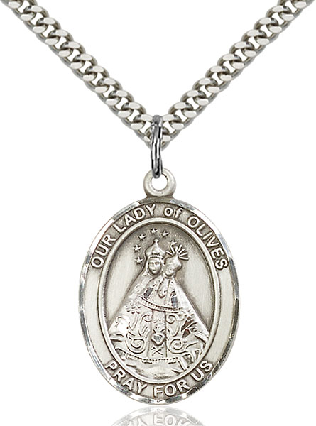 Sterling Silver Our Lady of Olives Pendant