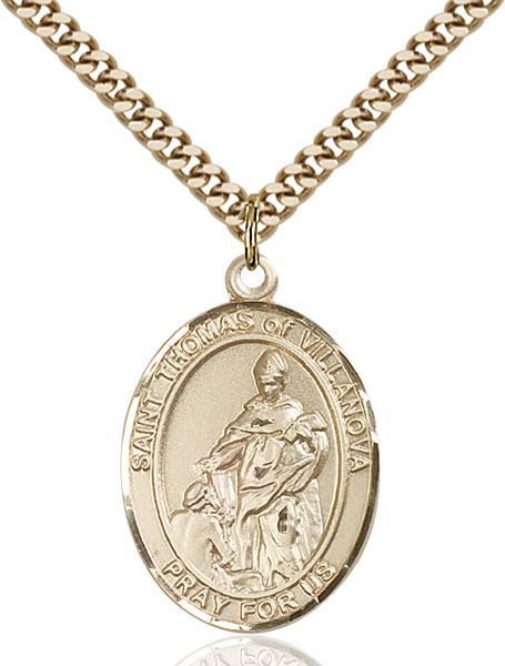 Gold-Filled St. Thomas of Villanova Pendant