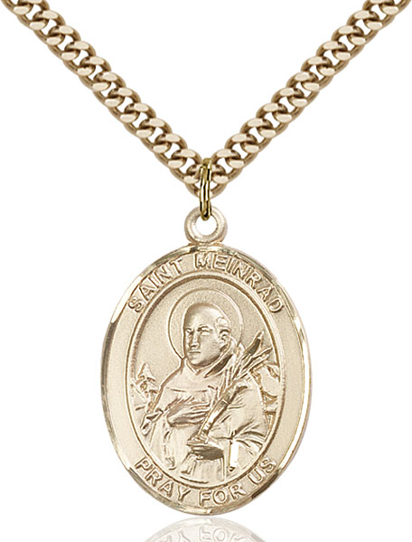 Gold-Filled St. Meinrad of Einsideln Pendant