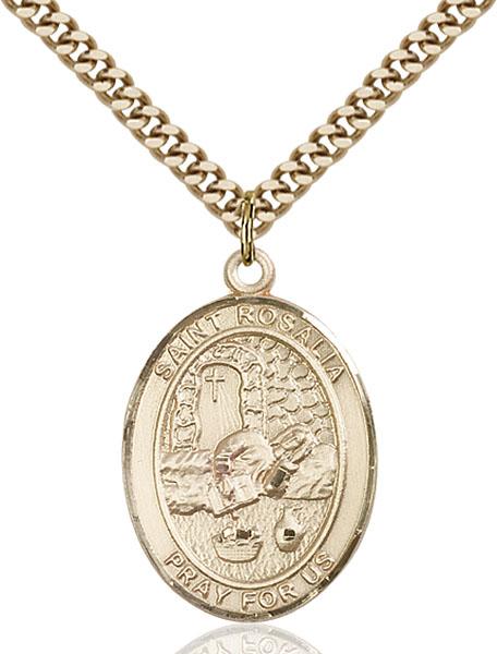 Gold-Filled St. Rosalia Pendant