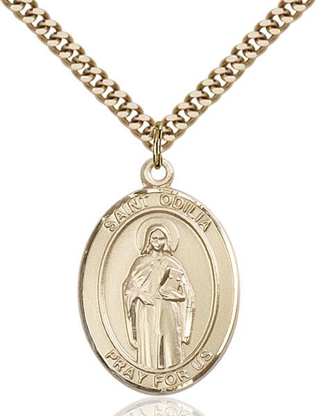 Gold-Filled St. Odilia Pendant