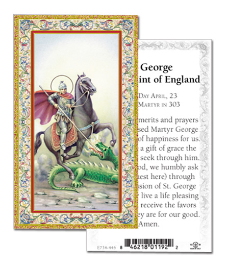 100-Pack - Prayer To St George Holy Card