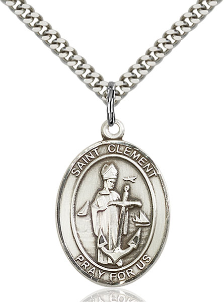 Sterling Silver St. Clement Pendant