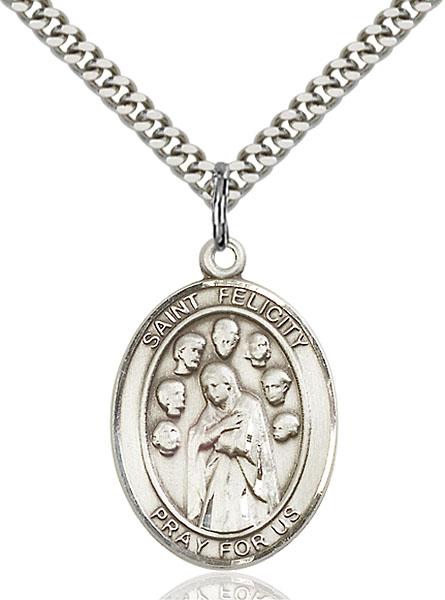 Sterling Silver St. Felicity Pendant