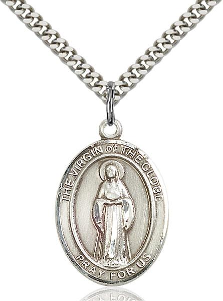 Sterling Silver Virgin of the Globe Pendant