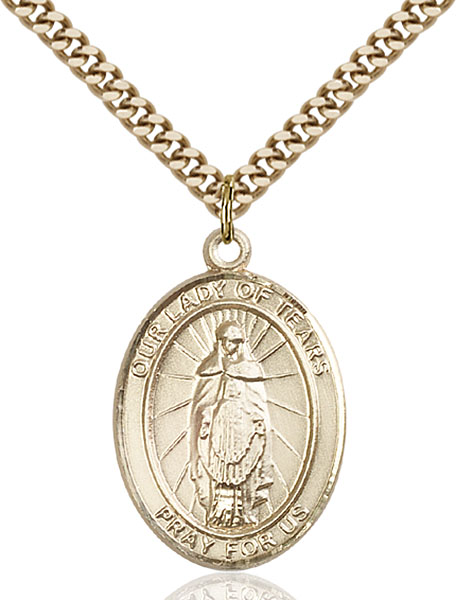 Gold-Filled Our Lady of Tears Pendant