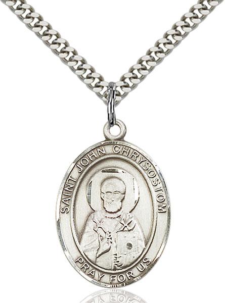 Sterling Silver St. John Chrysostom Pendant