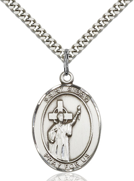 Sterling Silver St. Aidan Of Lindesfarne Pendant