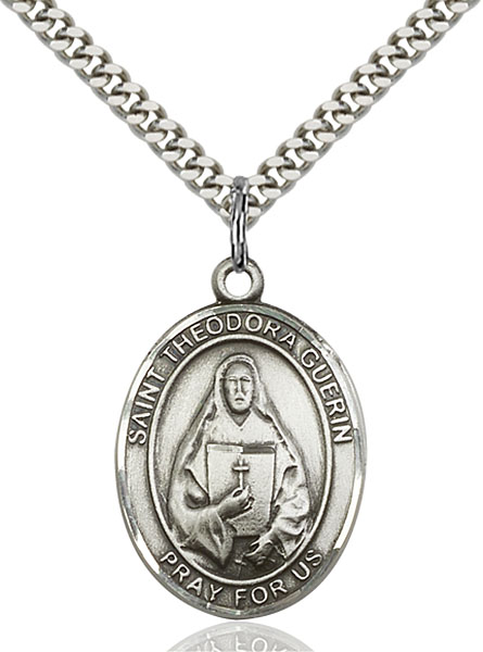 Sterling Silver St. Theodore Guerin Pendant